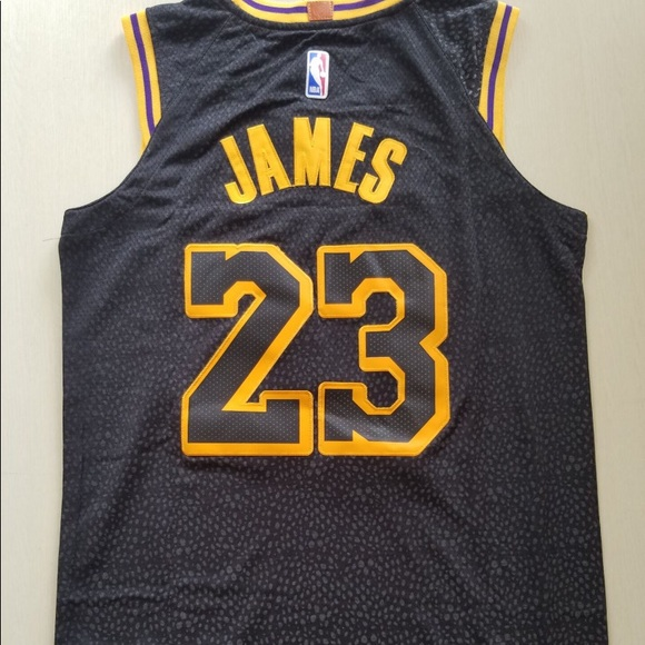 quality design 51f18 acb24 Lebron James Black Lakers Jersey NWT